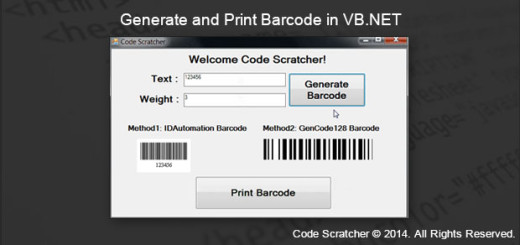 Generate and Print Barcode in VB.NET - CODE SCRATCHER