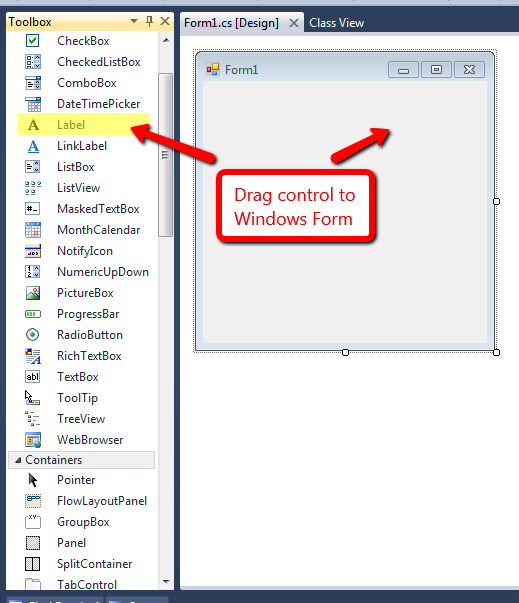 How to Create Windows Forms Application in Visual Studio