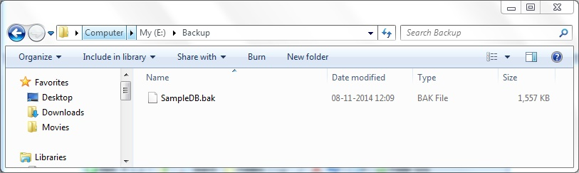 BACKUP FILE IN DIRECTORY