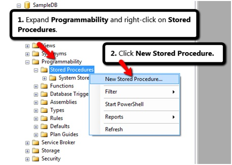 CREATE A NEW STORED PROCEDURE
