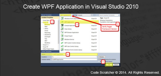 Create WPF Application in Visual Studio 2010