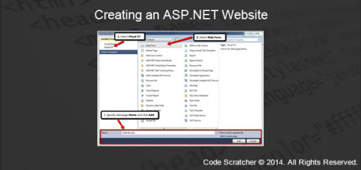 Creating an ASP.NET Website