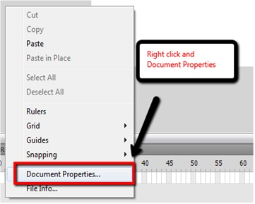 Document Properties Selection