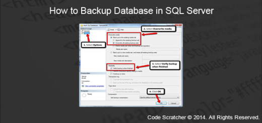 How to Backup Database in SQL Server