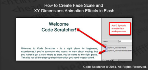How to Create Fade Scale and XY Dimensions Animation Effects in Flash
