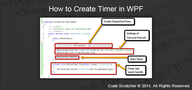 How to Create Timer in WPF - Code Scratcher