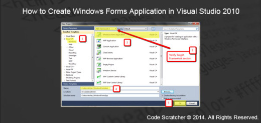 How to Create Windows Forms Application in Visual Studio 2010