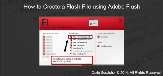 How to Create a Flash File using Adobe Flash