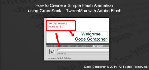 How to Create a Simple Flash Animation using GreenSock - TweenMax with Adobe Flash