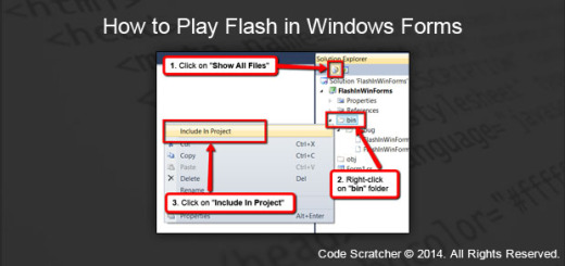How to Play Flash in Windows Forms