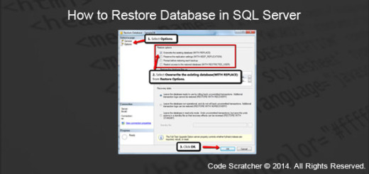 How to Restore Database in SQL Server