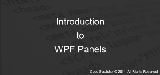 Introduction to WPF Panels