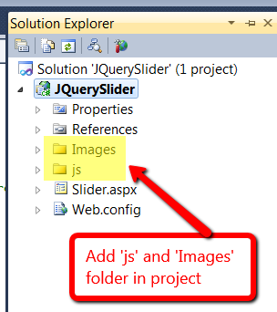 Add js and images folder