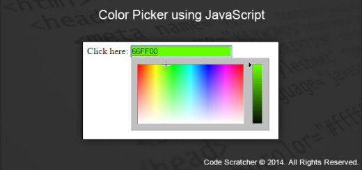 Color Picker using JavaScript