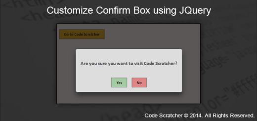 Customize Confirm Box using JQuery