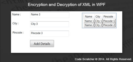 Encryption and Decryption of XML in WPF