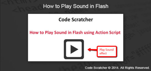 How to Play Sound in Flash