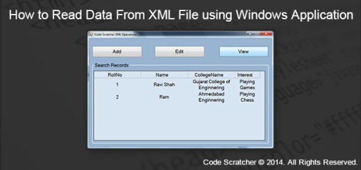 How to Read Data From XML File using Windows Application