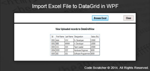 Import Excel File to DataGrid in WPF