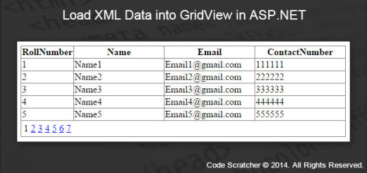 Load XML Data into GridView in ASP.NET
