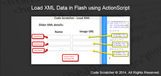 Load XML Data in Flash using ActionScript