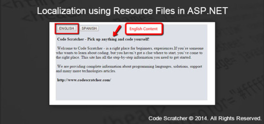 Localization using Resource Files in ASP.NET