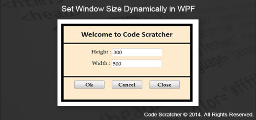 Set Window Size Dynamically in WPF