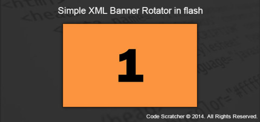 Simple XML Banner Rotator in flash