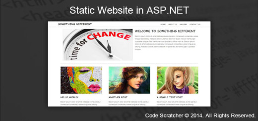 Static Website in ASP.NET
