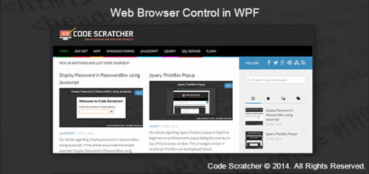 Web Browser control in WPF
