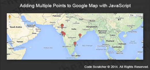 Adding Multiple Points to Google Map with JavaScript - CODE SCRATCHER