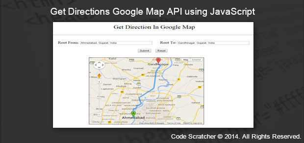 Get Directions Google Map API using JavaScript on maps directions from to, maps & directions on google, hertfordshire england map google, map maps driving directions google,
