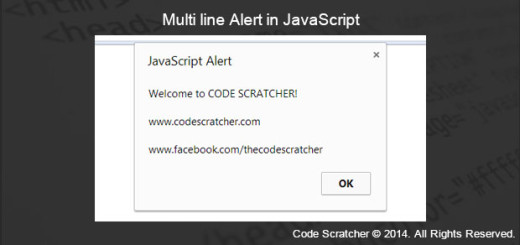 Multi line Alert in JavaScript