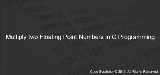 Multiply two Floating Point Numbers in C programming