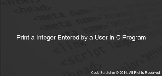 Print a Integer Entered by a User in C Program