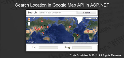 Search Location in Google Map API in ASP.NE