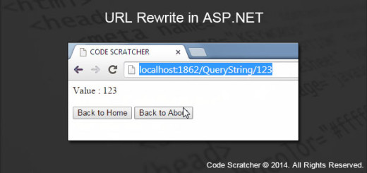 URL Rewrite in ASP.NET - CODE SCRATCHER