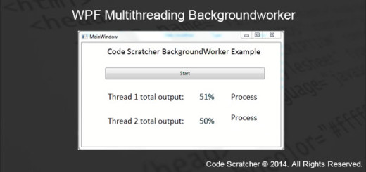 WPF Multithreading BackgroundWorker