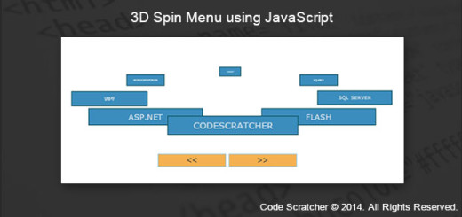3D Spin Menu using JavaScript - CODE SCRATCHER