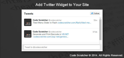 Add Twitter Widget to Your Site - CODE SCRATCHER