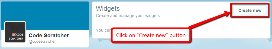 Create new widgets