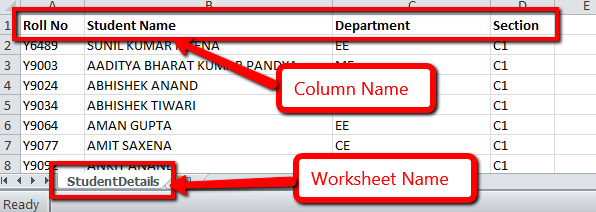 Excel Sheet Structure