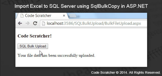 Import Excel to SQL Server using SqlBulkCopy in ASP.NET - CODE SCRATCHER