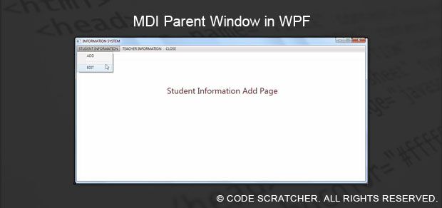 MDI Parent Window in WPF - Code Scratcher