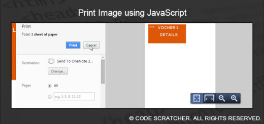 Print Image using JavaScript - CODE SCRATCHER