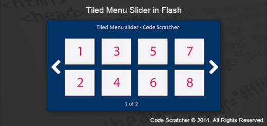 Tiled Menu Slider in Flash - CODE SCRATCHER