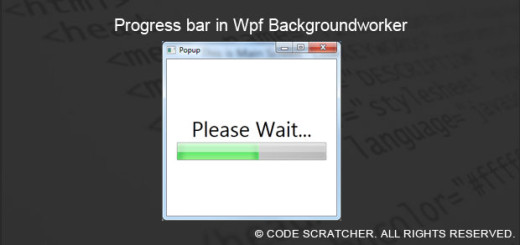 Progress bar in Wpf Backgroundworker