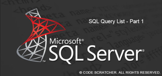 SQL Query List Part 1