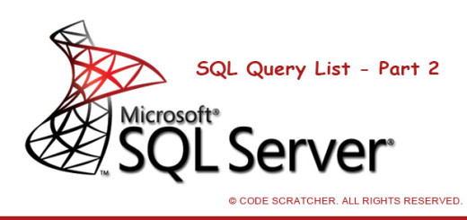 SQL Query List Part 2 - CODE SCRATCHER