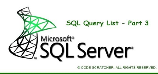 SQL Query List Part 3